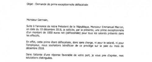 Prime exceptionnelle: 1000 euros maximum pour les salariés gagnant moins de 3600 euros net